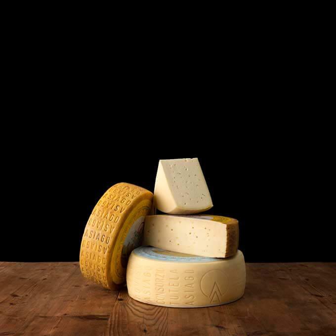 Photo of Asiago Cheese.