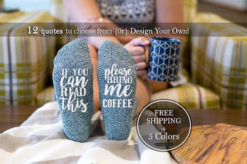 Photo bring me coffee socks
