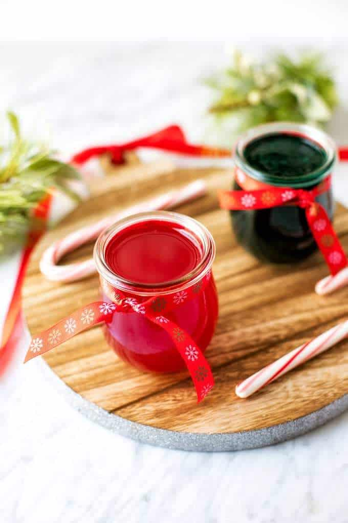 Photo of red and green DIY Gel Air Fresheners