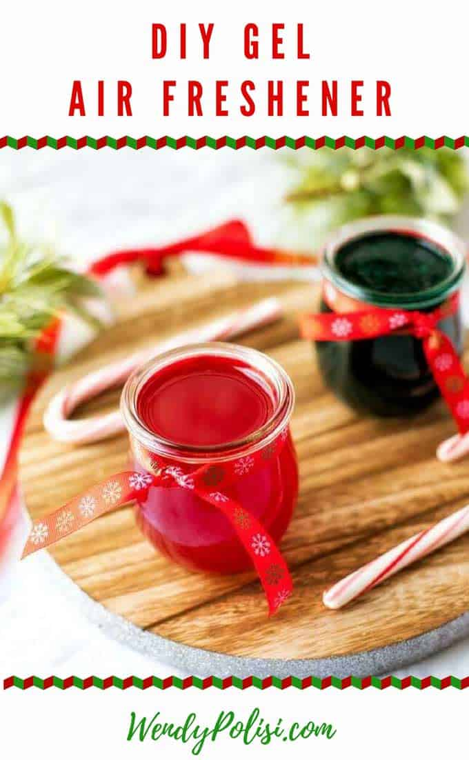 Learn how to make a DIY Gel Air Freshener and keep your home smelling great without harmful toxins.  Perfect for gifts! #holidaygifts #essentialoils