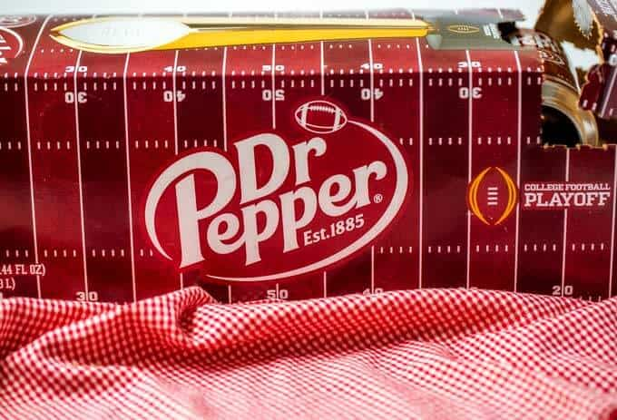 Photo of a case of Dr. Pepper