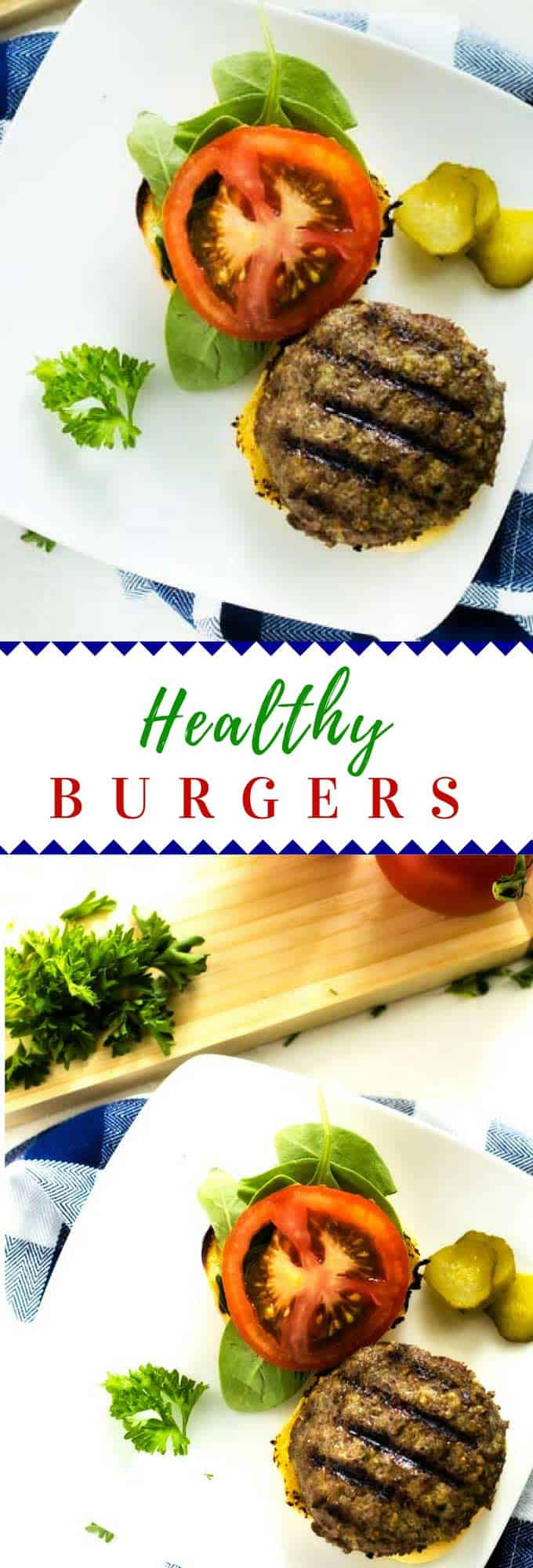 These Healthy Burgers can be made with either beef or turkey!  They packed with nutrition thanks to a few secret ingredients.  These easy to make burgers are perfect for your clean eating diet and also great for kids.  #burger #healthy #healthyrecipe #kidfriendlyrecipe #quinoa