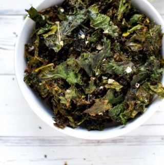 Homemade Kale Chips with Sriracha