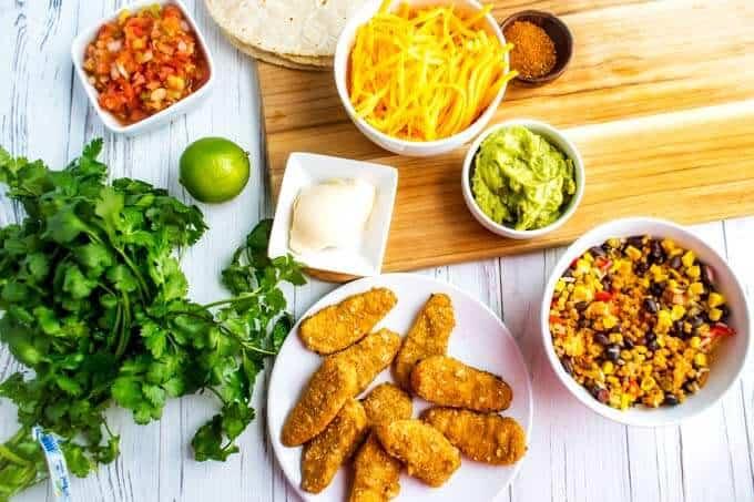 Ingredients for Southwestern Veggie Wraps