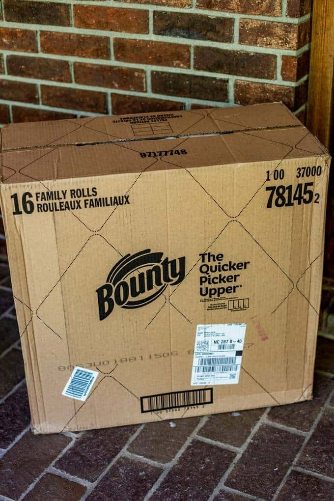 Bounty Paper Towels Delivered from Amazon - Tips for spring cleaning