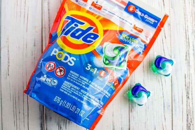 Photo of Tide PODS on a white background.