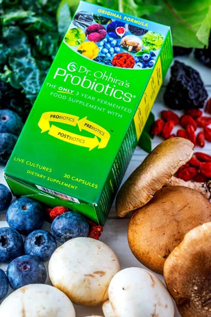 Close up photo of Dr. Ohhira's Probiotics.