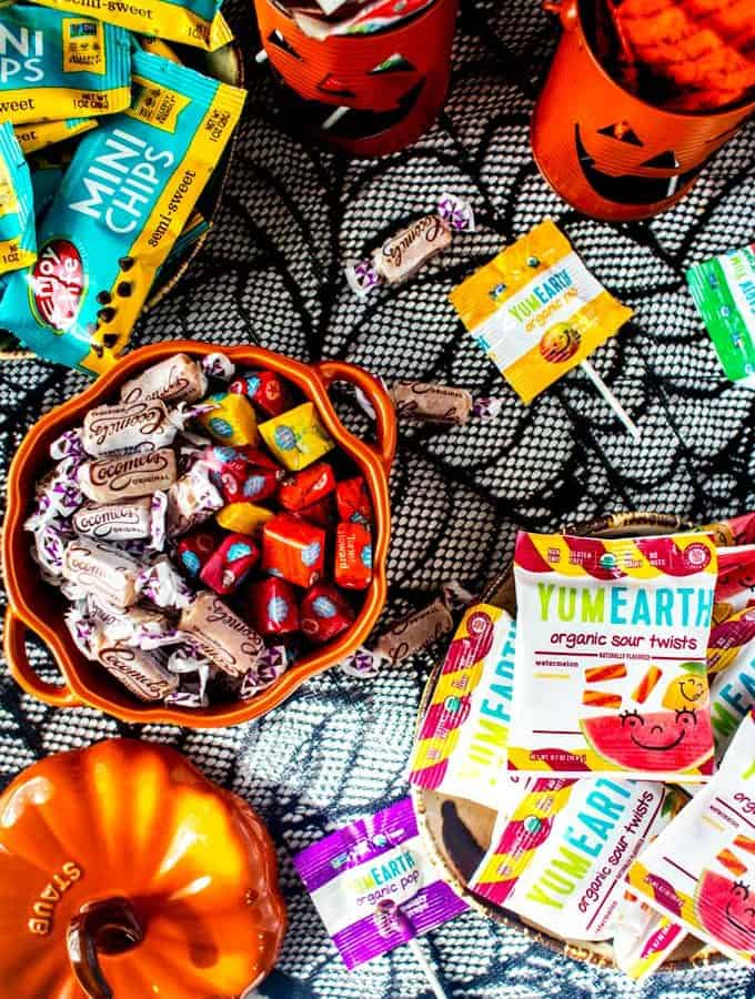 Overhead photo of healthier candy options.