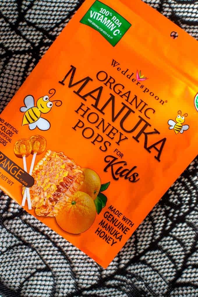Close Up Photo of Organic Manuka Honey Pops.