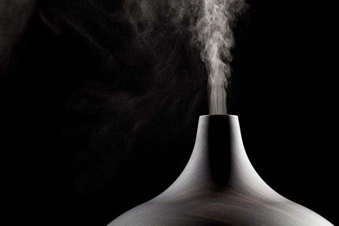 Close up photo of an essential oil diffuser.