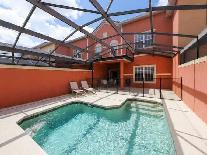 Photo of a pool at a vacation rental in Orlando, Florida.