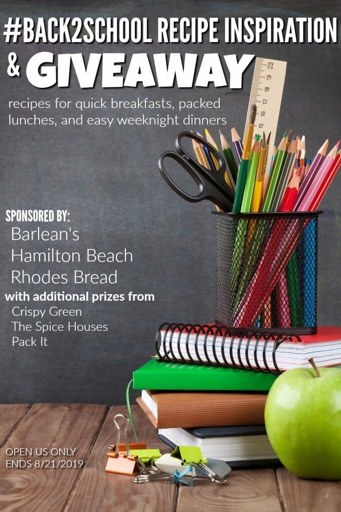 Photo of a back to school giveaway promo.