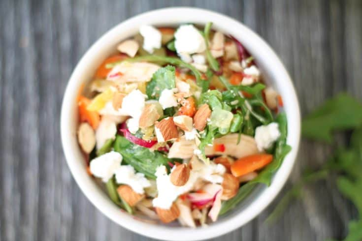 Chopped Winter Vegetable Chicken Salad