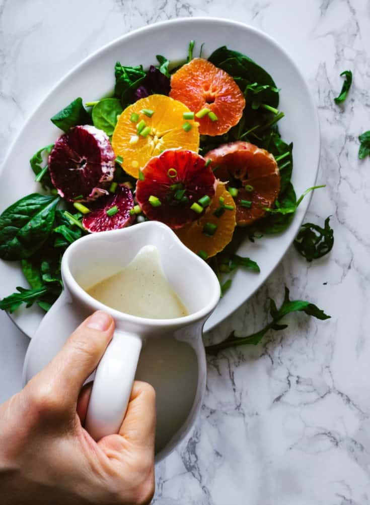 Winter Citrus & Greens with Miso Ginger Dressing