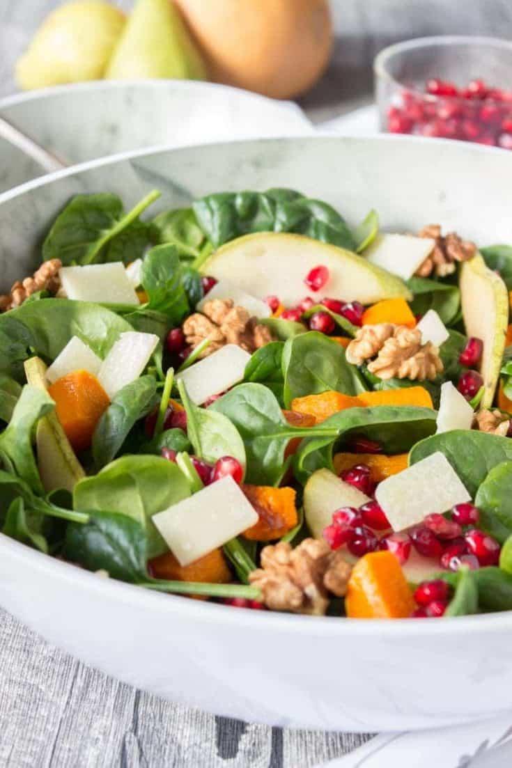 Roast Pumpkin Pear Salad
