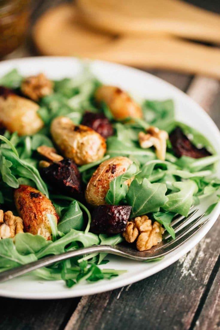 Roasted Potato Beet Salad
