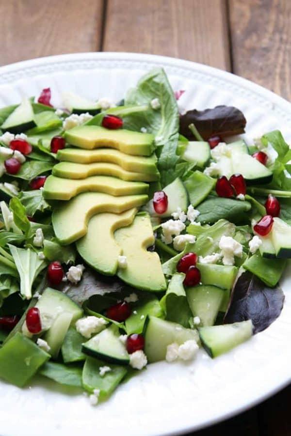 Green Goddess Salad Recipe » LeelaLicious