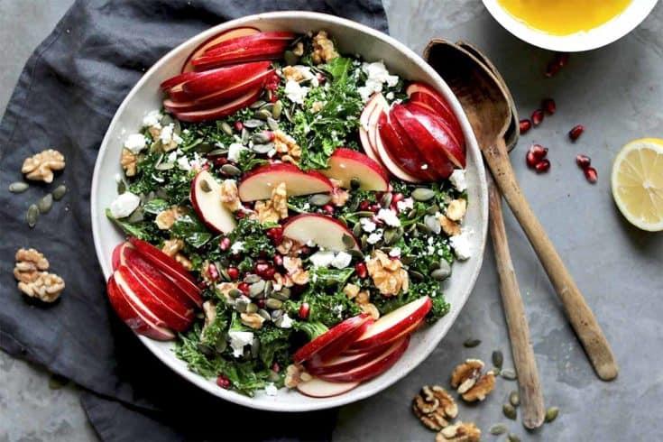 Apple Walnut Salad with Kale