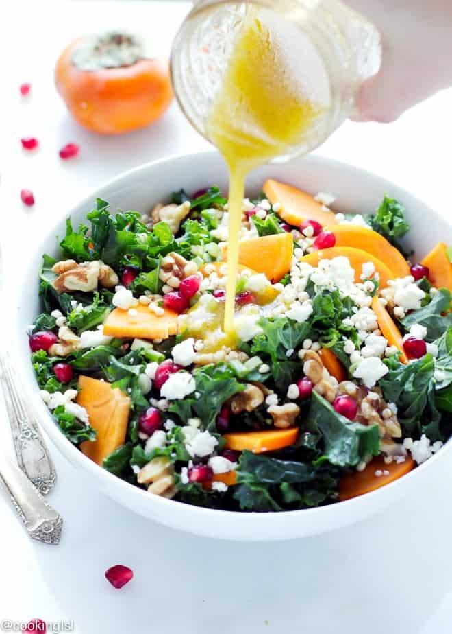 Kale Persimmon Salad