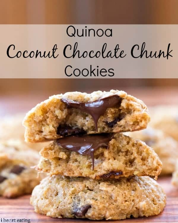 Quinoa Coconut Chocolate Chunk Cookies