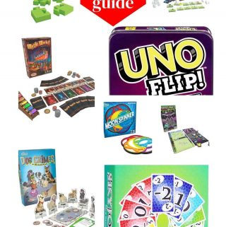 Photo collage of games with the text 2020 Game Gift Guide.