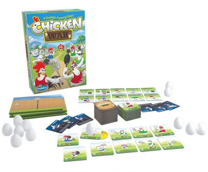 Photo of Chicken War game on a white background.