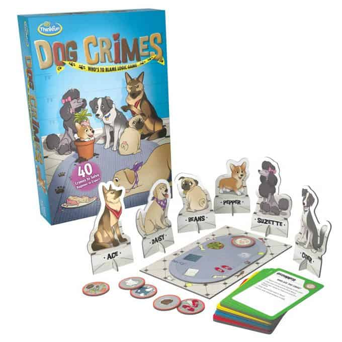 Photo of dog crimes game against a white background.