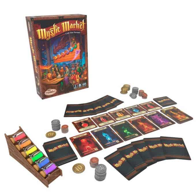 Photo of Mystic Market Game on a white background.