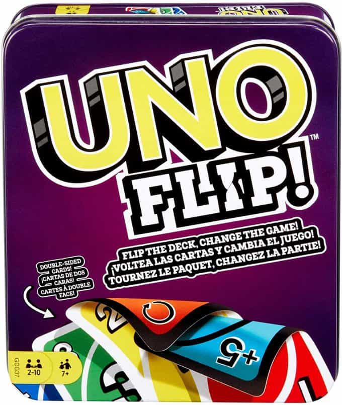 Cover of UnoFlip card game.