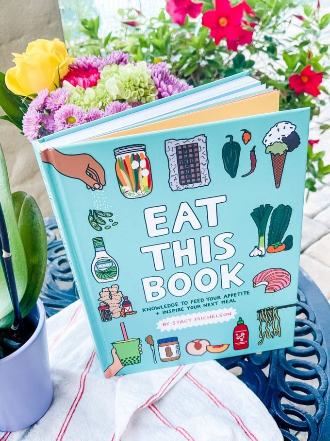 Photo of Eat This Book on an outdoor table.